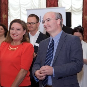 Norah Casey and Mike Feerick at Iveagh House 16.06.2015