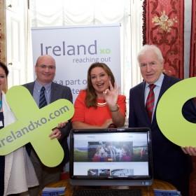 Caroline Stephens RTE Digital, Mike Feerick, Norah Casey and Minister Deenihan Iveagh House 16.06.2015